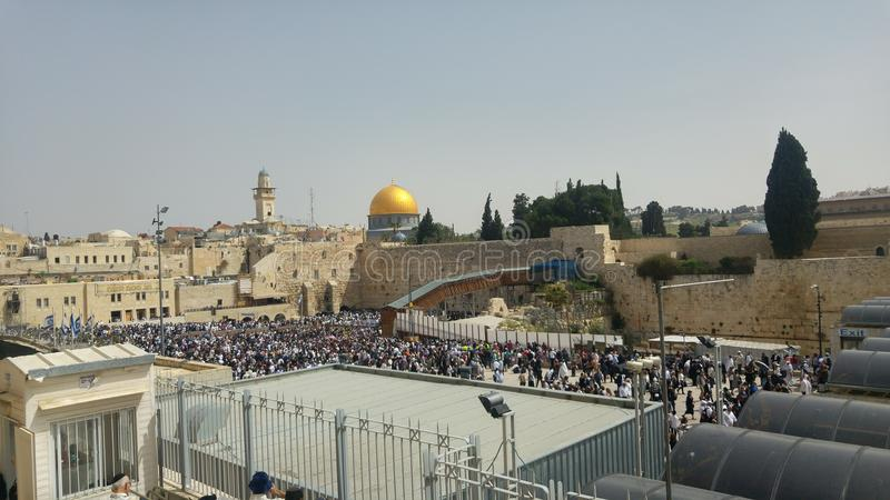 Immagine di visione dei luoghi santi a Gerusalemme fotografia stock libera da diritti