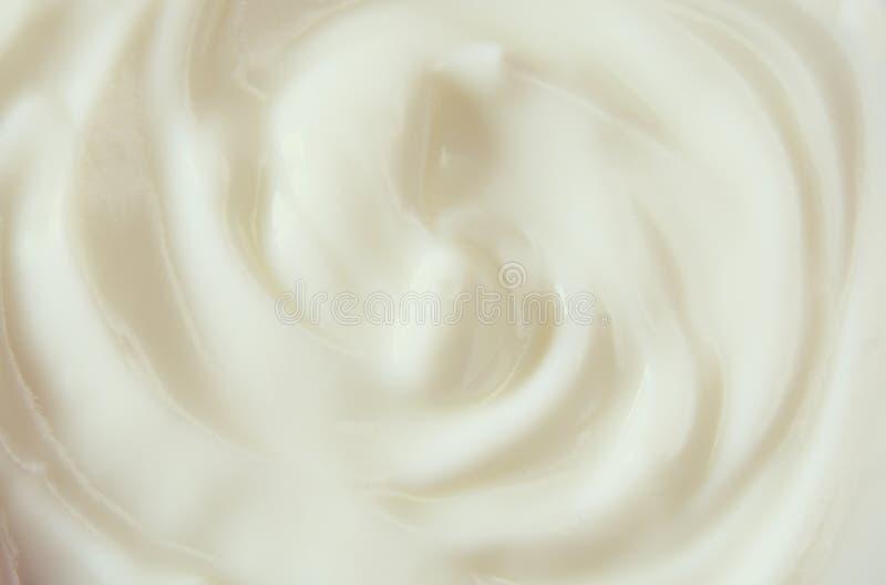 Immagine di vista superiore del turbinio del yogurt immagini stock libere da diritti