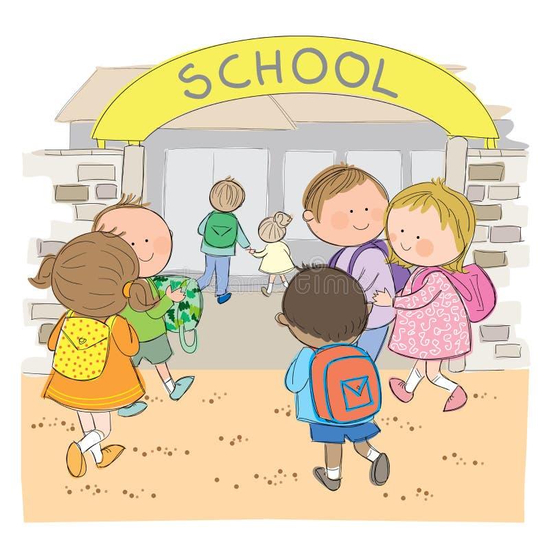 Di nuovo alla scuola royalty illustrazione gratis