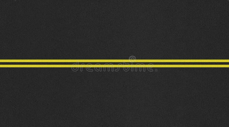 Immagine a due corsie senza cuciture di struttura della strada fotografia stock libera da diritti