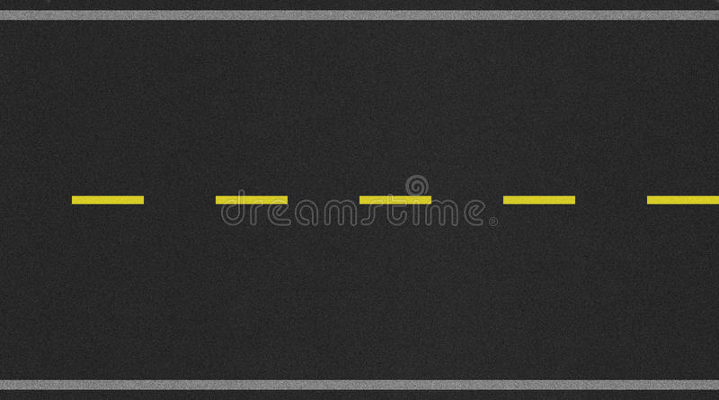Immagine a due corsie senza cuciture di struttura della strada con la striscia gialla immagine stock libera da diritti