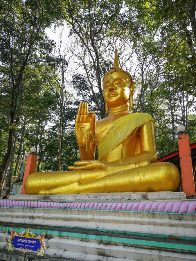 Immagine enorme di Buddha alla provincia di Watkhaoruk Phichit, Tailandia fotografia stock