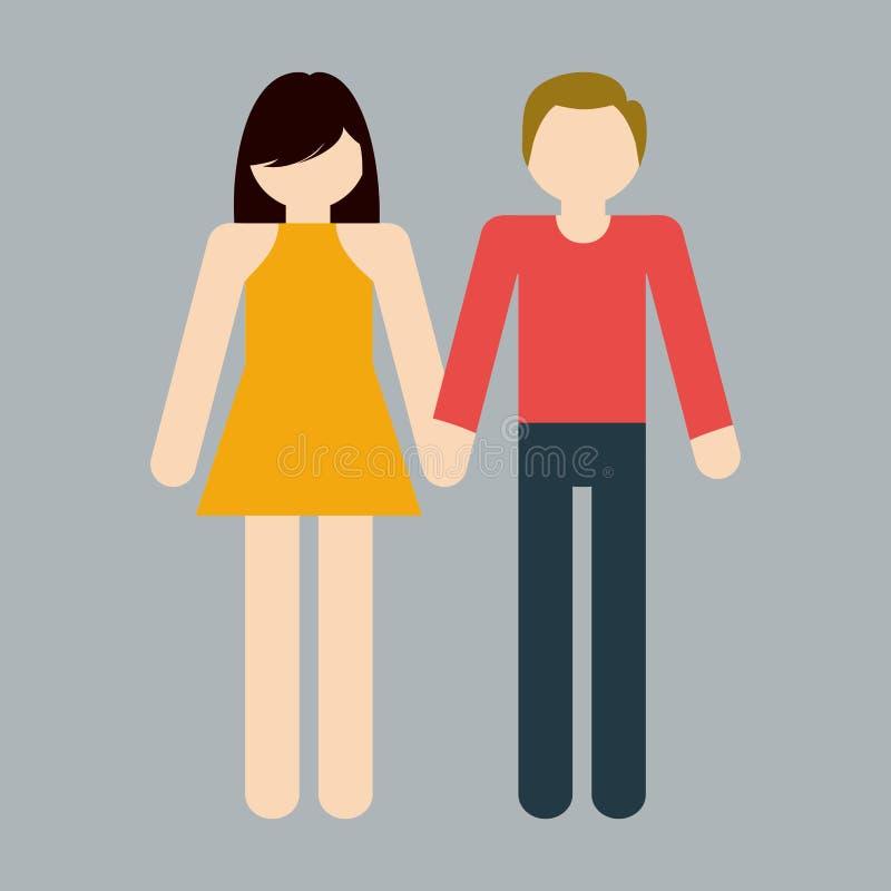 immagine eterosessuale dell'icona delle coppie royalty illustrazione gratis