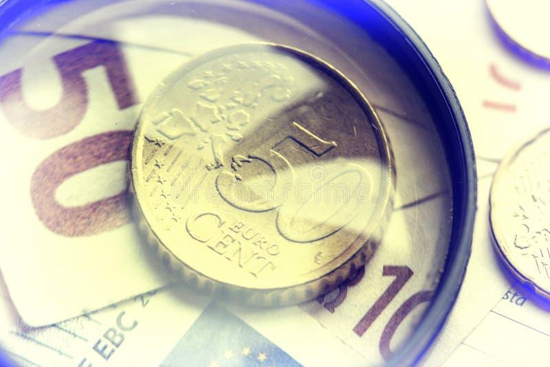 Immagine europea dei soldi fotografia stock libera da diritti