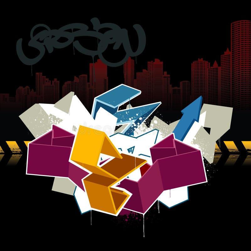 Immagine fredda dei graffiti royalty illustrazione gratis