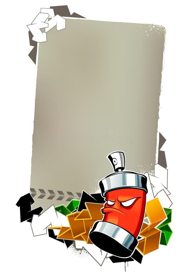 Immagine fredda dei graffiti illustrazione di stock