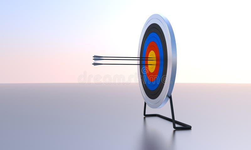 Immagine generata da computer dell'obiettivo di tiro con l'arco fotografia stock