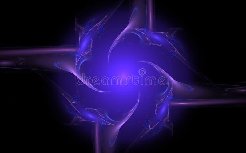 Immagine generata Digital sotto forma di forme geometriche astratte di varie tonalità e di colori per uso in web design e compute illustrazione di stock