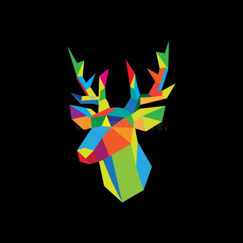 immagine geometrica di vettore dei cervi royalty illustrazione gratis