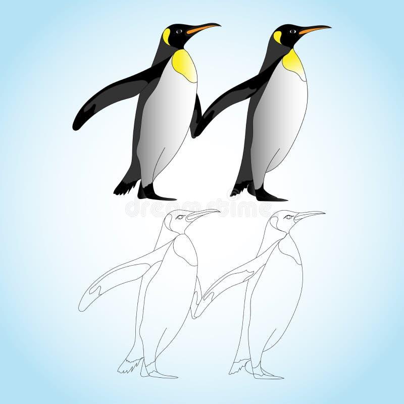 Immagine impressionante di vettore del pinguino per il download illustrazione di stock