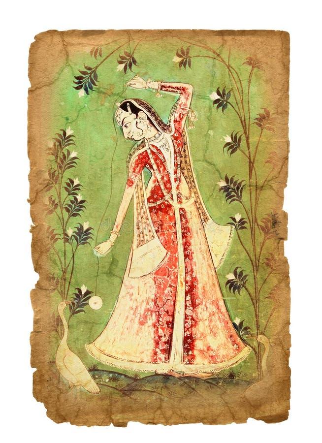 Immagine indiana antica fotografia stock
