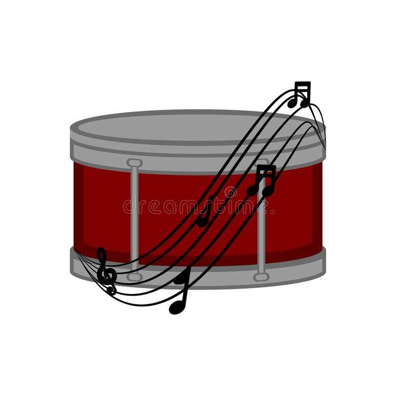 Immagine isolata del tamburo royalty illustrazione gratis