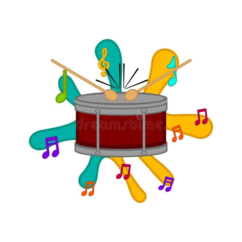 Immagine isolata del tamburo illustrazione vettoriale
