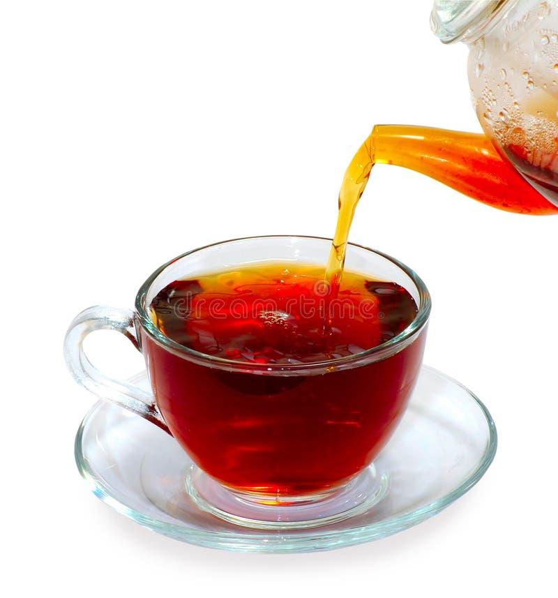 Immagine isolata di una tazza di tè immagini stock