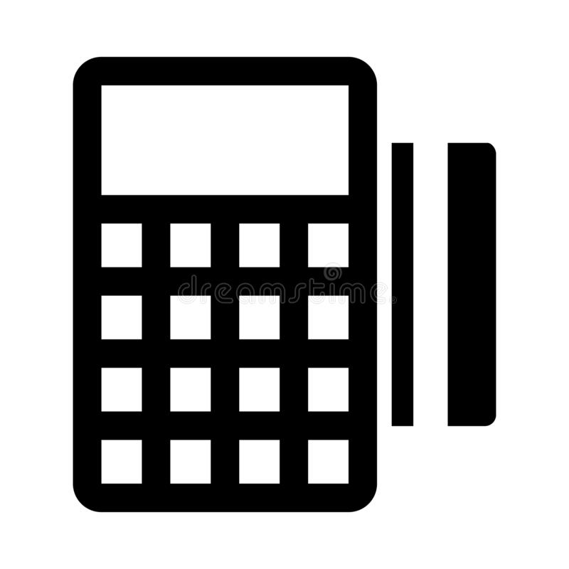 Immagine isolata icona Glyph macchina di scambio Stile in EPS 10 semplice elemento glifo business & office vettore modificabile illustrazione di stock