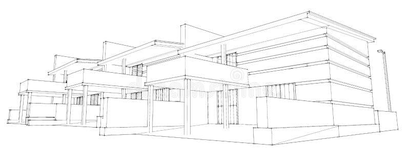 Schizzo della matita di sviluppo residenziale for Schizzo di piani di casa gratuiti