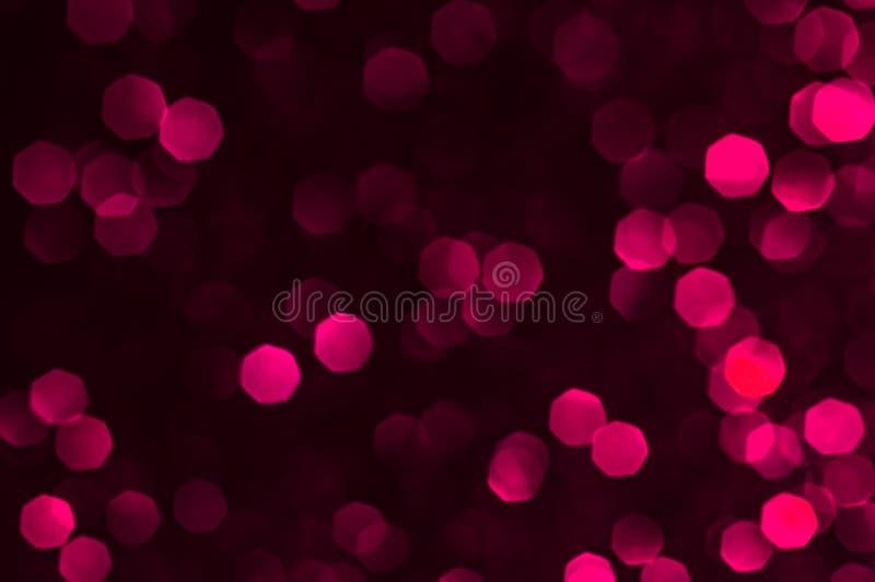 Immagine morbida rosso bokeh, rosa con sfondo chiaro Rosso, marrone, nero, colore chiaro, eleganza della notte, sfondo liscio o o fotografia stock libera da diritti