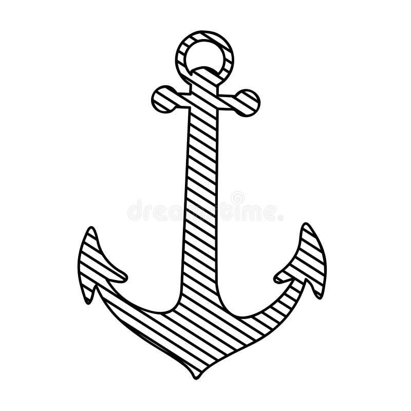Immagine nautica dell'icona dell'ancora royalty illustrazione gratis
