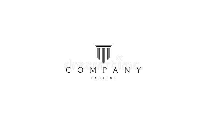 Immagine nera di logo di vettore delle colonne illustrazione di stock