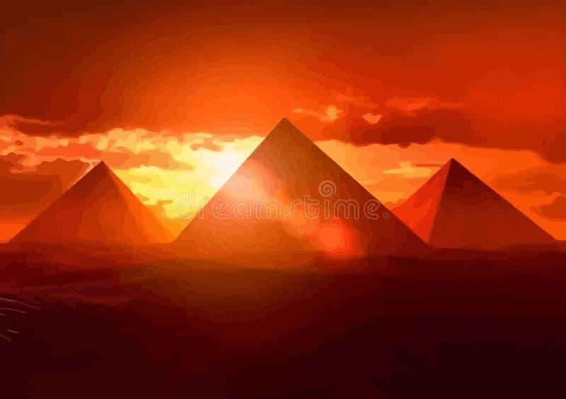 Immagine originale della piramide illustrazione di stock