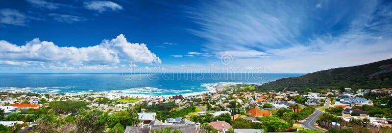Immagine panoramica della città di Città del Capo fotografie stock libere da diritti