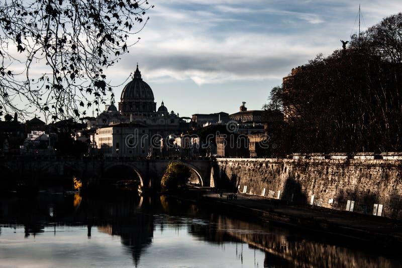 Immagine piacevole di Roma al tramonto fotografie stock