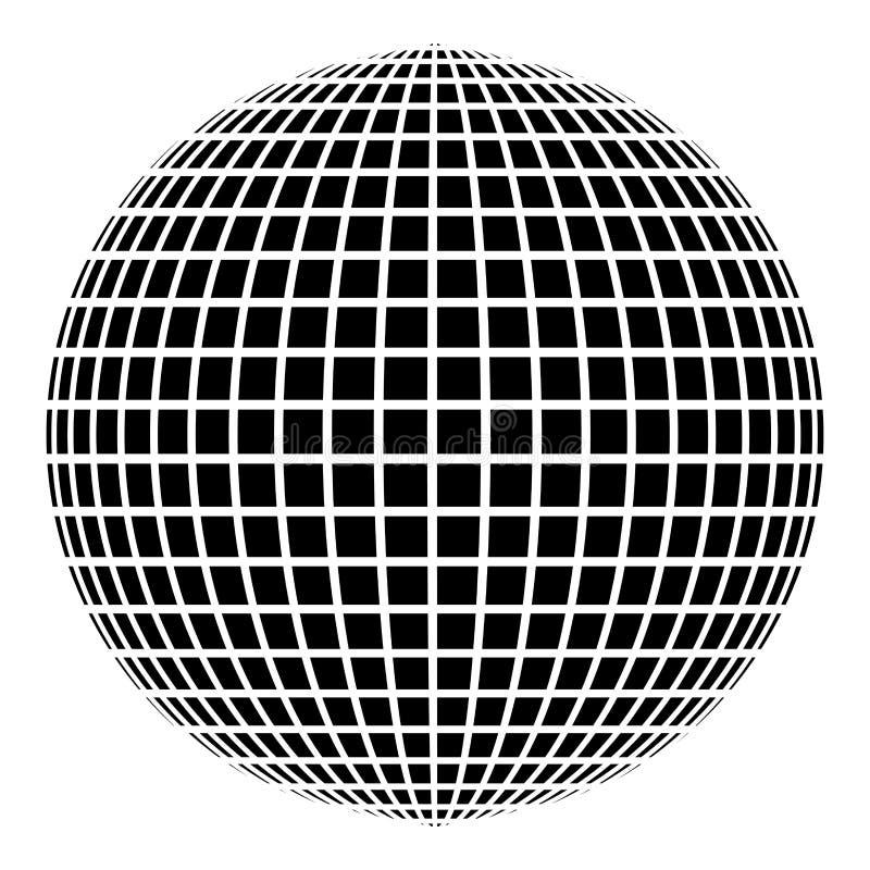 Immagine piana di stile dell'illustrazione di vettore di colore del nero dell'icona di idea di web di concetto del mondo della pa illustrazione di stock