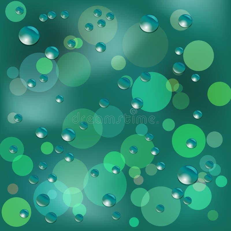 Immagine piovosa di vettore del fondo della finestra royalty illustrazione gratis