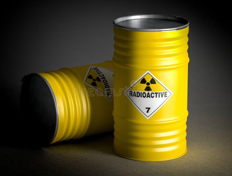 Immagine radioattiva della rappresentazione del barilotto 3d illustrazione vettoriale