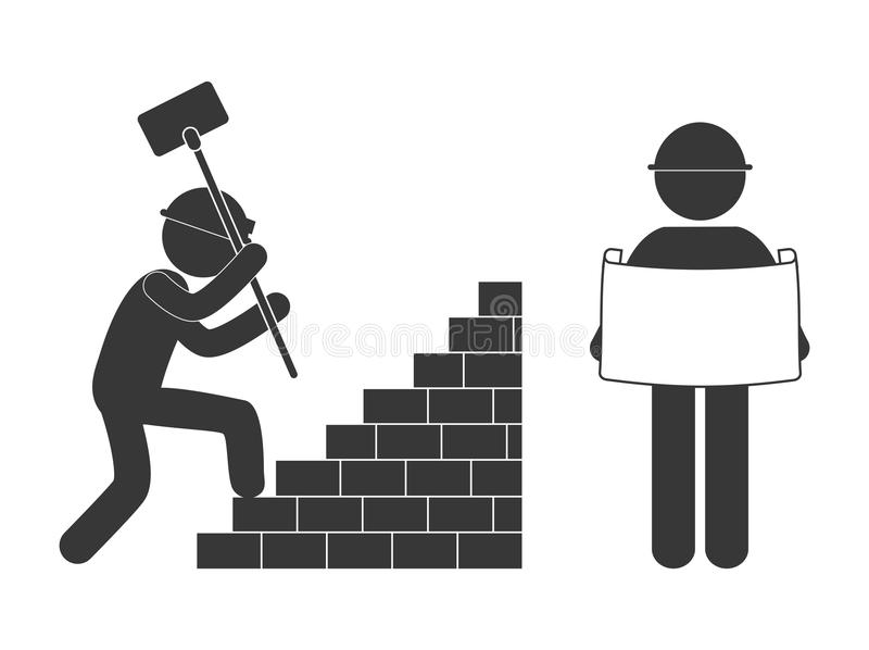 immagine relativa in costruzione del pittogramma illustrazione di stock