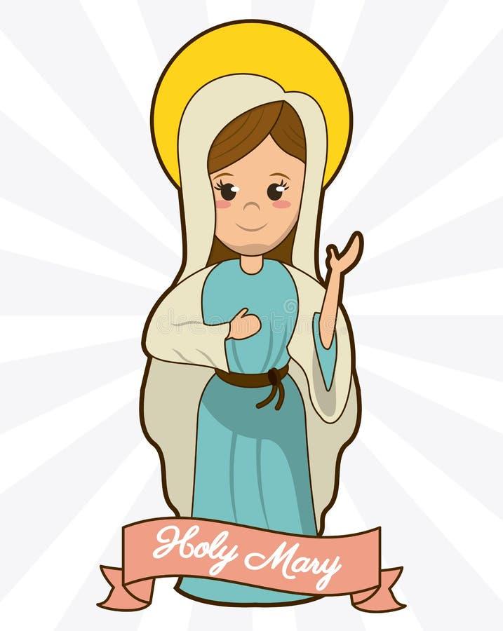 Immagine santa di fede di spiritualità di devozione di Mary illustrazione di stock