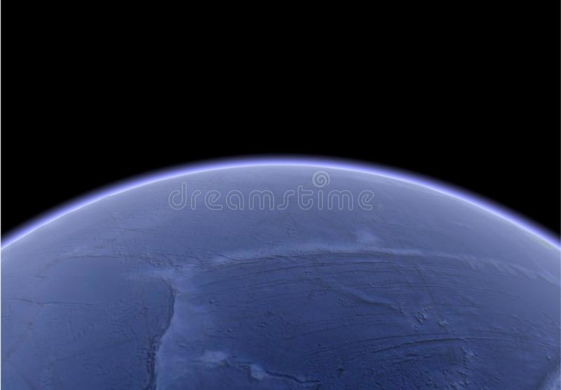 Immagine satellite di terra royalty illustrazione gratis