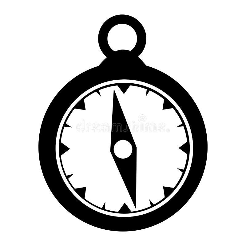 Immagine semplice dell'icona della bussola illustrazione di stock