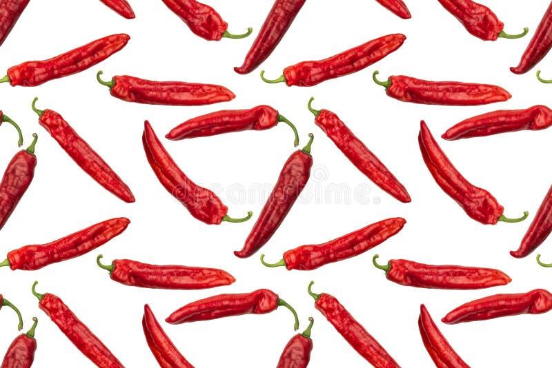 Immagine senza cuciture dei peperoni rossi fotografati della paprica fotografia stock