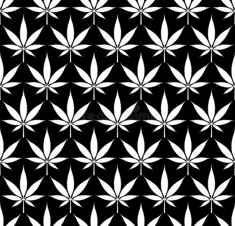 Immagine senza cuciture di vettore del modello della cannabis della marijuana royalty illustrazione gratis