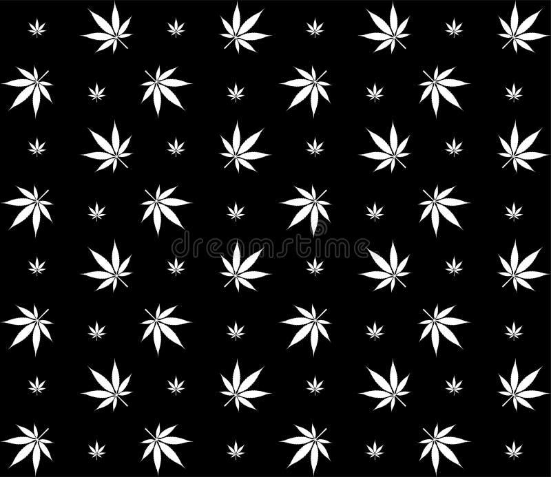 Immagine senza cuciture di vettore del modello della cannabis della marijuana illustrazione di stock