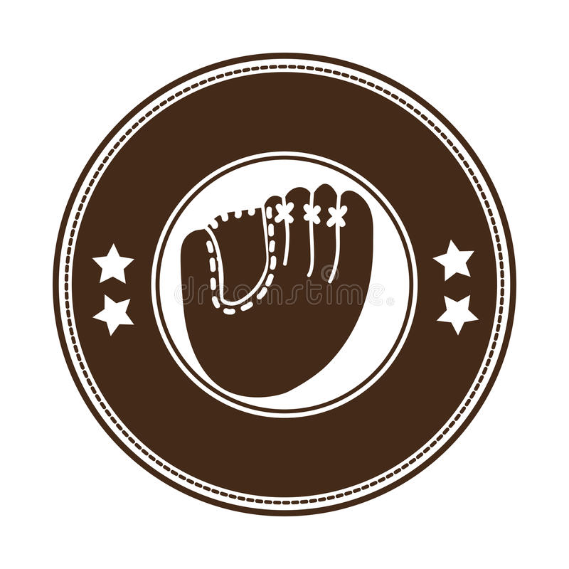 Immagine sobria dell'icona dell'emblema o dell'etichetta di baseball royalty illustrazione gratis