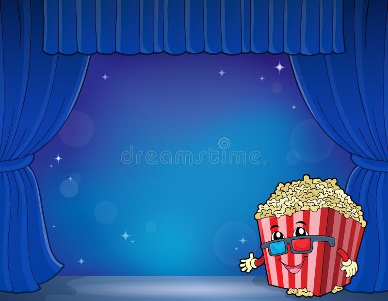Immagine stilizzata 5 di tema del popcorn illustrazione vettoriale