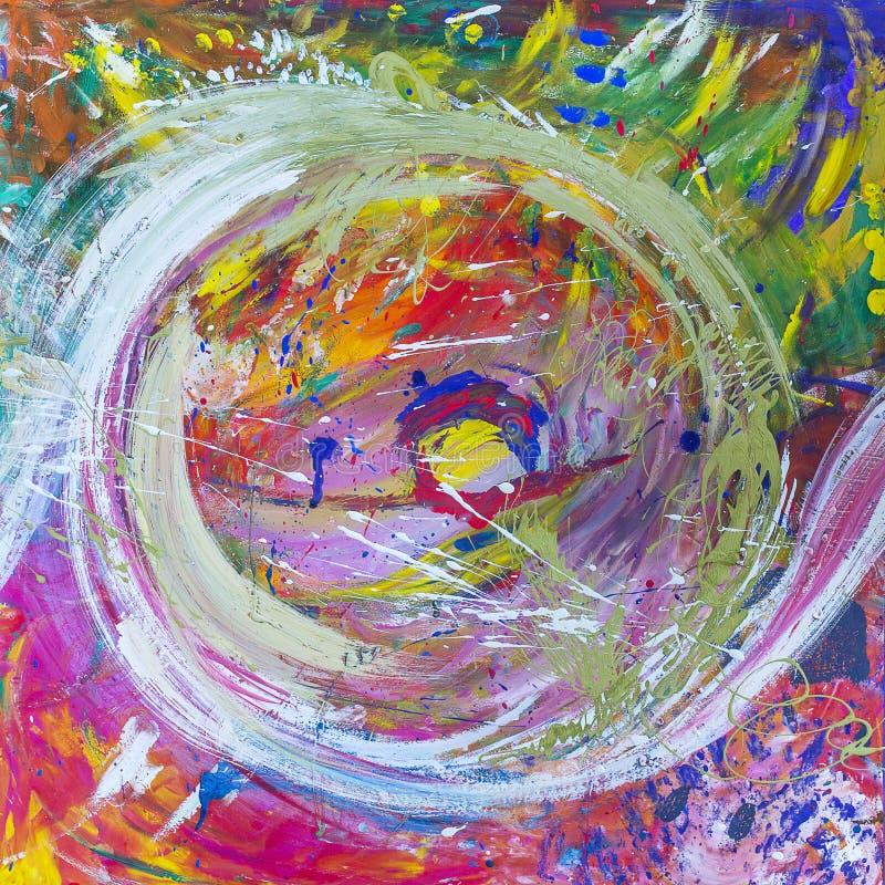 Immagine, tela dipinta astratta come fondo multicolore fotografia stock libera da diritti
