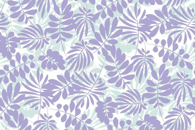 Immagine tenera tropicale per biancheria da letto illustrazione vettoriale