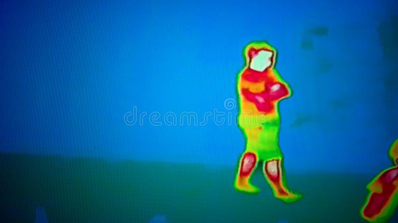 Immagine termica immagini stock