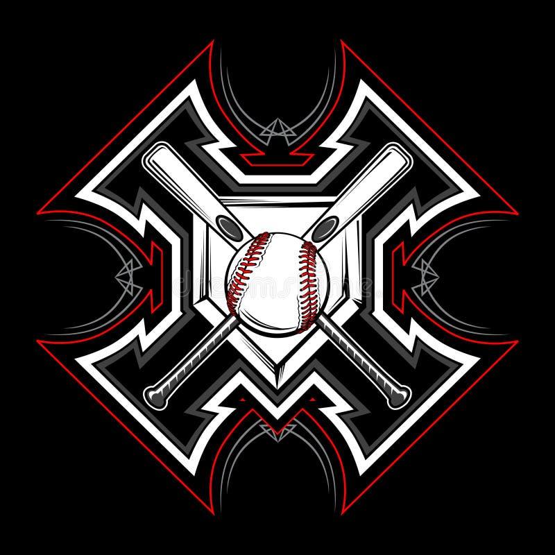 Immagine tribale di vettore softball/di baseball illustrazione vettoriale