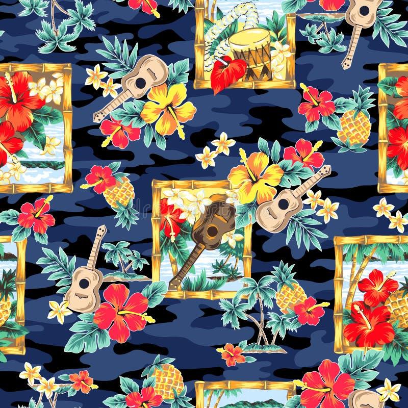 Immagine tropicale in un modello, royalty illustrazione gratis