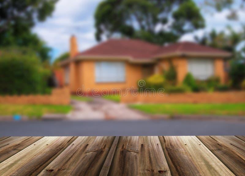 Immagine Unfocused della casa fotografie stock