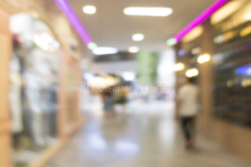 immagine vaga del centro commerciale fotografia stock