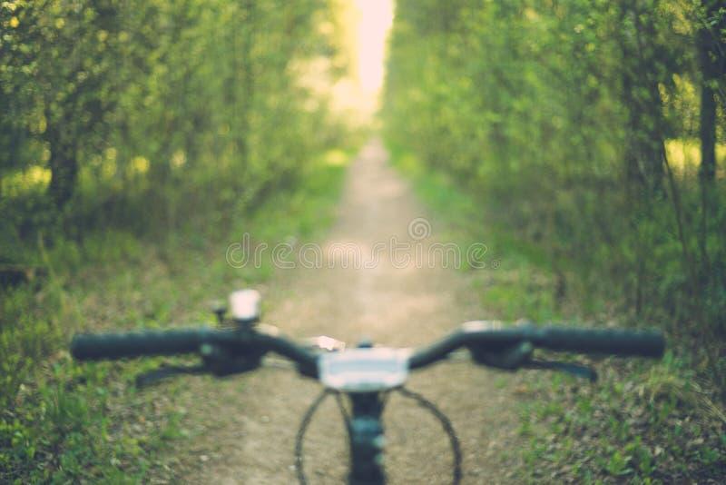 Immagine vaga della barra della maniglia della bici fotografie stock libere da diritti