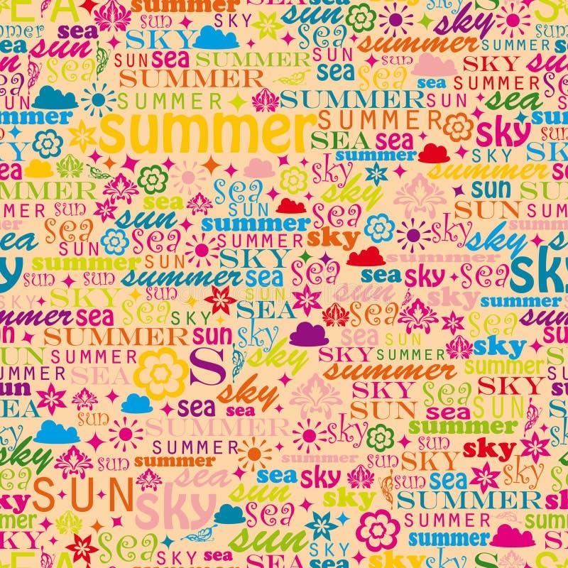 Immagine variopinta astratta fatta dalle parole che illustrazione vettoriale