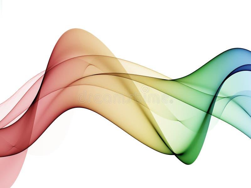 Immagini astratte di Wave, onda colorata astratta di progettazione di colore royalty illustrazione gratis