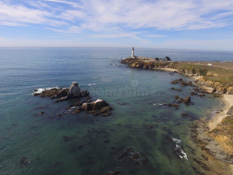 Immagini costiere aeree prese lungo un allungamento di California& x27; costa del Pacifico Hwy di s Da San Francisco attraverso i fotografia stock