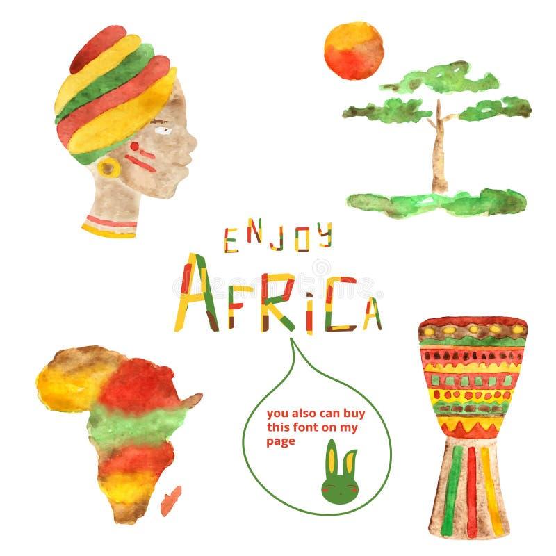 Immagini dell'Africa illustrazione vettoriale
